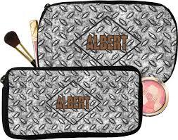 diamond plate makeup cosmetic bag