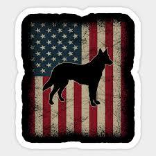 vine american flag german shepherd