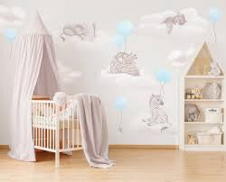 Nursery Wall Stickers Safari Animals With Balloons Inspire Murals Wall Stickers Room Sets Hand Painted Prints Inspiremurals Com