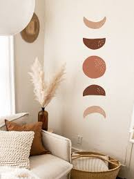 Moon Phases Wall Decal Hand Drawn Moon Phases Boho Decor Crescent Sticker Modern Decals Moon Wall Decal Scandinavian Decor H13 In 2020 Moon Wall Decal Modern Wall Decals Modern Decals