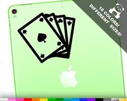 Playing Cards Decal Etsy