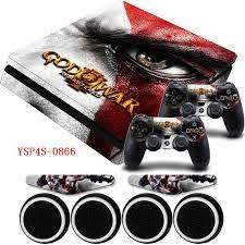 7 Off God Of War Hd Vinyl Ps4 Slim Protection Sticker 2x Controller Skins Decal Led Light Bar Skin For Sony Playstation4 Slim God Of War Ps4 Slim Console
