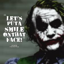 joker quotes lets put a smile quotesta