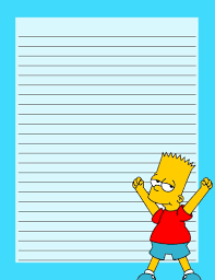 The Simpsons Bart Stationery Free To Use And Free To Share