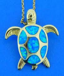 sea turtle opal pendant sterling