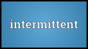 Intermittent Meaning - YouTube