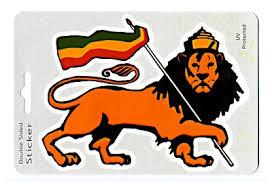 Lion Of Judah With Rasta Flag Window Sticker Gypsy Rose