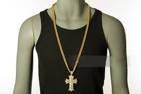 long necklace 24k thick gold
