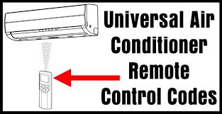 universal air conditioner remote