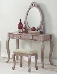 wood make up bedroom vanity set