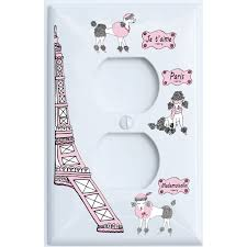 Poodle In Paris Light Switch Plate Covers For The Wall Paris Room Decor Outlet Cover Walmart Com Walmart Com