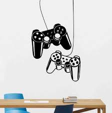 Controllers Wall Decal Gaming Decals Ps4 Wall Art Video Game Etsy