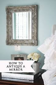 mirror look antique with silver leaf
