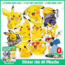 Mua 75 mẫu sticker không trùng chủ đề Pikachu Pokemon Bửu bối thần ...