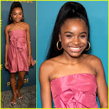 Saniyya Sidney Is Pretty in Pink At 'The Passage' Premiere | Saniyya Sidney  | Just Jared Jr.