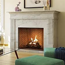 traditional minimal gas fireplace