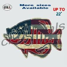 American Crappie Fishing Decal Sticker Fishing Car Truck Window Decals Large Ebay