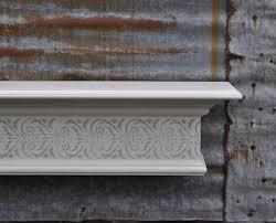 stenciled fireplace mantel wall shelf