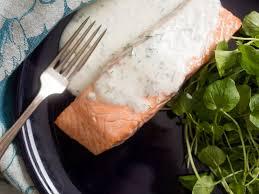 Poached Salmon With Dill-Yogurt Sauce ...
