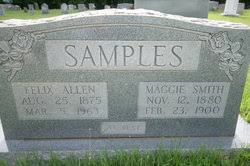 Maggie Ophelia Smith Samples (1880-1900) - Find A Grave Memorial