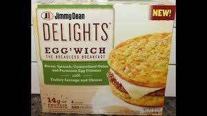 jimmy dean delights egg wich bacon