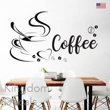 Coffee Cup Swirls Kitchen Decal Sticker Word Wall Art Black Oracal Vinyl For Sale Online Ebay