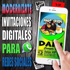 Invitacion Digital 210 Cumpleanos Angry Birds 99 99 En