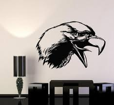 Vinyl Wall Decal Black Raven Wings Gothick Style Stickers 1646ig Home Garden Decor Decals Stickers Vinyl Art