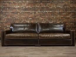 deep seat leather sofa