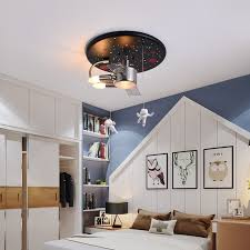 Best Offer A9227d High Quality Iron Art Astronaut Flush Mount Ceiling Light Kids E14 Led Bulb Cartoon Ceiling Lamp Bedroom Children Room Lamps Cicig Co