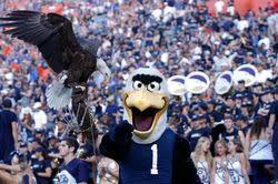Georgia Southern mascots, Freedom (live) and Gus the Eagle ...