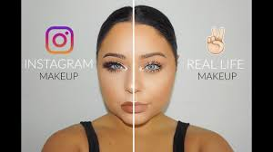 insram vs real life makeup you