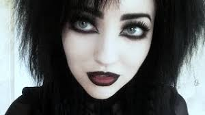 everything red goth makeup tutorial