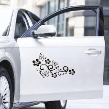 2pcs Butterfly Flower Vine Pattern Car Decal Sticker Car Body Bumper Decor Window Decoration For Auto Truck Wall Stickers Aliexpress
