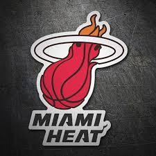 Sticker Nba Miami Heat Shield Muraldecal Com