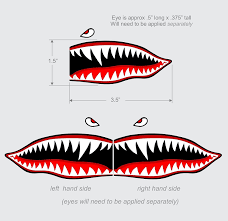 Amazon Com Flying Tigers Shark Teeth Decal Sticker 1 5 T X 3 5 W Wwii Military Airplane Kitchen Dining