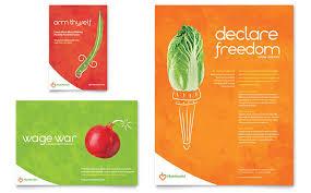 t nutrition flyer templates