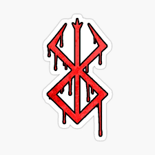 Berserk Demon Mark Stickers Redbubble