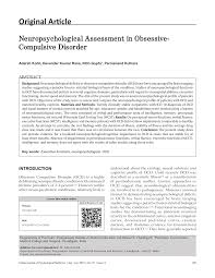 neuropsychological essment in