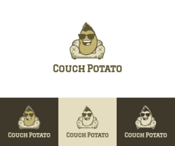 cafe logo design for couch potato