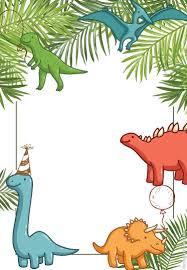 Dino Party Dinosaurios Marco Invitaciones De Dinosaurios