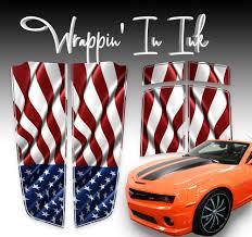 American Flag Chevy Camaro Stripes 2010 2015 Camaro Racing Stripes Impeach Biden Right Wing Ink