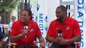 2014 Pac-12 Football Media Day: Utah's Dres Anderson and Nate ...
