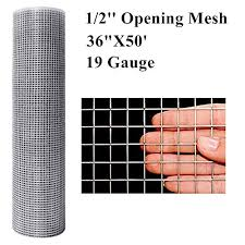 Amagabeli 36inx50ft 1 2 In 19gauge Hardware Cloth Galvanized After Welded Cage Mesh Rolls Square Chicken Wire Netting Raised Garden Rabbit Fence Snake Fencing Rodent Animals Weasel Moles Raccoons On Galleon Philippines