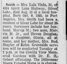 Obituary for Lula Smith (Aged 35) - Newspapers.com