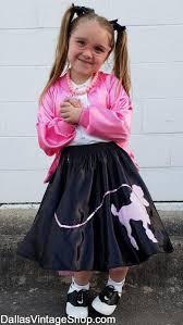 kids poodle skirts pink las jackets