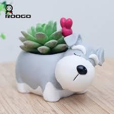 2020 roogo decorative schnauzer dog pot
