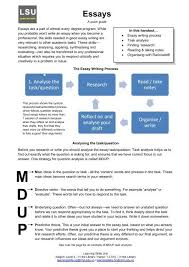 handout for great essay writing