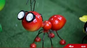 steel red ant figurine