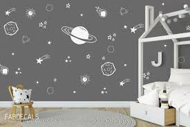 Planet Wall Decal Boys Room Decor Space Wall Stickers Outer Etsy